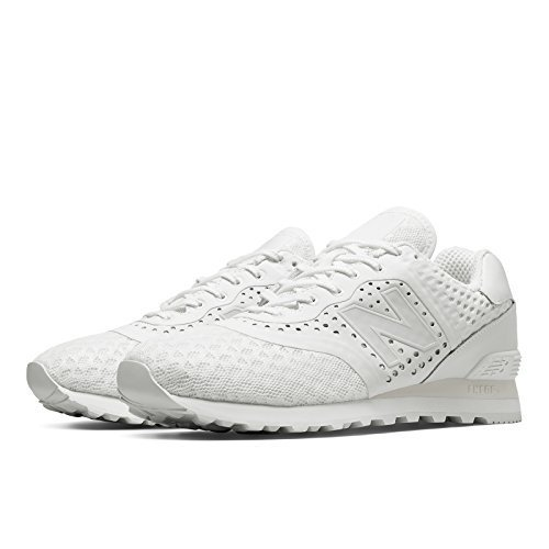 New Balance 574 Re-Engineered Breathe Solid, White, 9 M US