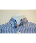 Cutter Buck Midweight Cotton Button-Front Shirt, Blue, Striped, Men's Small B647 - $9.71