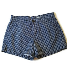 Gap Womens 00 Chino Shorts with Pockets Blue White Triangle Print G7MP - $9.99