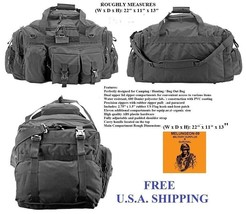 The Humvee Duffel Bag + Free Surv.Bracelet -Tactical / Military / Surviv... - $45.58