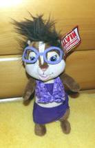 Alvin & Chipmunks Chipwrecked Chipette JEANETTE in Purple Build-A-Bear 1... - $8.95