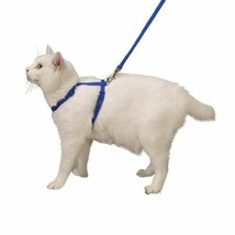 Nylon Adjustable Cat Harness Style and Safety In Blue For Walking or Gro... - $11.77