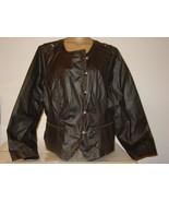Lane Bryant Black Gray Moto Biker Jacket Button Front Thick Pleated Back... - $45.49