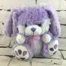 "Best Made Toys 9"" Plush Bunny Rabbit Purple Stuffed Animal Sitting Soft Toy  - $11.88"