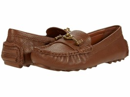 COACH Crosby Pebbled Leather Loafers Shoes Saddle Size 5 MSRP: $195.00 - $128.69