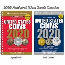 2020 Red Book Price Guide, Spiral and 2020 Blue Book, Handbook of U.S. C... - $23.46