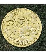 Garden Stepping Stone Welcome Resin Mold Outdoor Patio Decor - $37.13