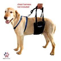 GingerLead Dog Support & Rehabilitation Harness with Stay Medium-Large U... - $59.36