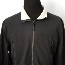 Timberland Lightweight Black Jacket XL Windbreaker Fleece Collar 2 Breast Pocket - $44.54