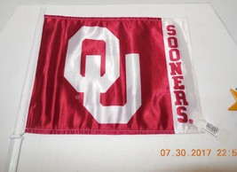 Oklahoma University OU Sooners Auto Window Flag NCAA College - $23.38