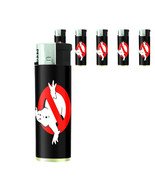 80's Theme D2 Lighters Set of 5 Electronic Refillable Butane No Ghost - $10.84