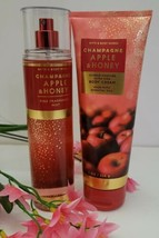 Bath and Body Works Champagne Apple & Honey 2pc Set Full Size Mist & Lotion - $23.84
