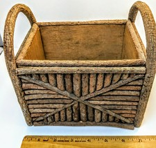 Handmade Wooden Basket Holiday Home Decor Craft - $14.85