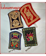 5 Pcs Indian Embroidered Work Mobile and Money Velvet Purse Best Hand Ba... - $12.18