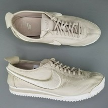 Nike Cortez 72 SI Athletic Shoes Womens Size 8 Leather Sneakers Tan White - $60.76