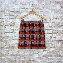 Adam Lippes Women's Multicolor Plaid Tweed Mini Wrap Skirt Wool Blend Si... - $57.42