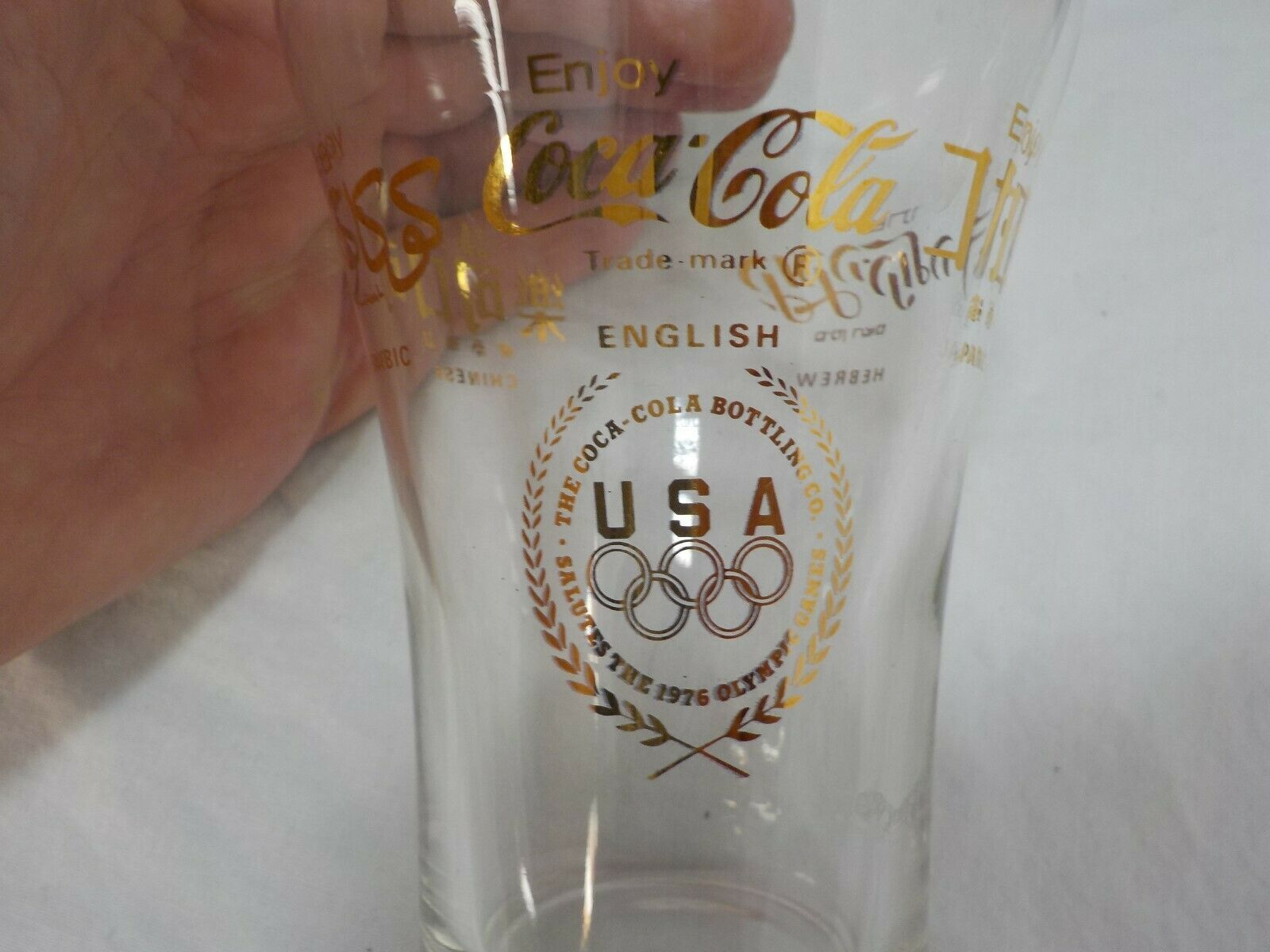 Primary image for Set 6 Olympic Games 1976 Coca Cola English Hebrew Japanese Chinese Arabic RARE