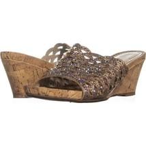 White Mountain Amal Wedge Slide Sandals 629, Rose Gold, 7.5 US - $29.75