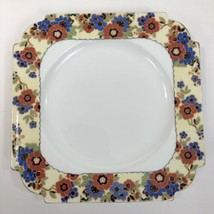 VTG John AYNSLEY Romany Square Dessert Plate Made England Art Deco Bone ... - $14.80