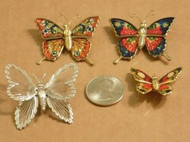 Lot Of 4 Butterfly Pins - $14.85