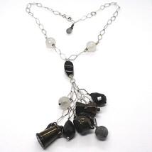 Halskette Silber 925, Onyx, Mokka, Kaffeekanne, Teekanne, Anhänger, Ruti... - $226.35