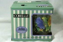 Corelle 1997 Summer Blush Set Of 4 7 oz. Juice Glasses In Box - $13.16