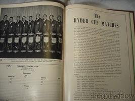 1951 Ryder Cup Pinehurst Program and Book of Golf by the PGA of America HC image 3