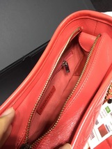 NWT AUTH Chanel 2019 Red Quilted Calfskin Small Gabrielle Hobo Bag GHW image 8
