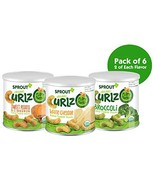 Sprout Organic Curlz Toddler Snacks, Variety Pack, 1.48 Ounce Canister P... - $16.23