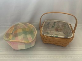 2001 Longaberger Small Berry Basket With 2 Fabric liners and protecter - $20.37