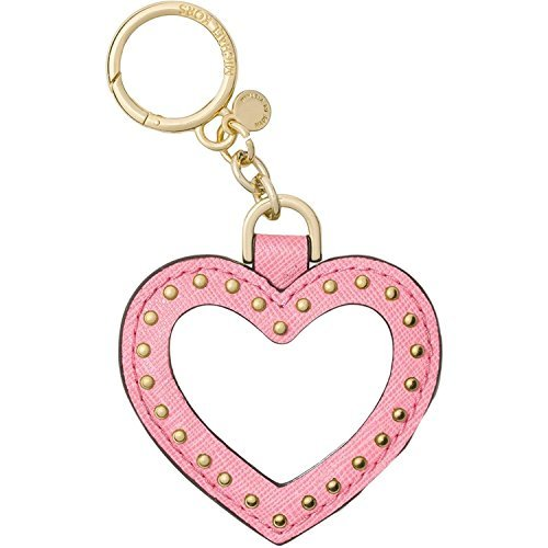 MICHAEL Michael Kors Womens Leather Mirror Fashion Keychain Pink O/S