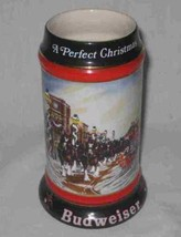 """Neat 7"""" 1992 Budweiser A Perfect Christmas Mug Clydesdales - $19.24"""