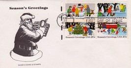 (4)USA-First DAY Cover-Christmas-1982-FDC-102863 YOU GET (4) COVERS(.75 ... - $2.97
