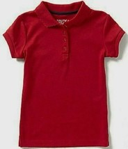 Nautica Little Girls' Polo, Red, Sizes S(4) Regular, MSRP $24 - $12.86