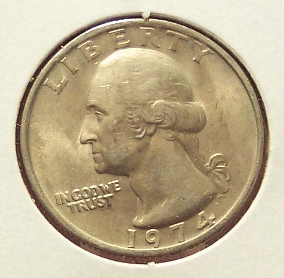 1974 Washington Quarter BU #031