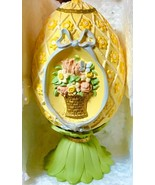 "AVON 1994 Season's Treasures Porcelain Pedestal Egg Collection ""FLORAL B... - $19.12"