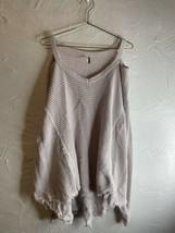 Free People Moonshine V Cold Shoulder Sweater Light Pink Waffle Knit Sz ... - $27.10