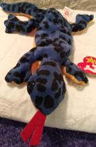 Ty -- Izzy The Blue LIZARD--MWMT, Has Errors And Is Rare And Retired! - $270.00