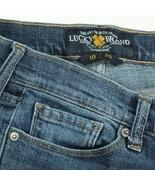 Lucky Brand Sweet Straight Dark Wash Stretch Denim Jeans Womens 10 30x28 - $29.51