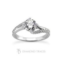 0.85ct J-VS2 Ideal Round Genuine Diamonds 18k Gold Split Curved Shank Ri... - $1,482.03