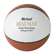 Best Man Regulation Basketball Wedding Gift - Personalized Wedding Favor - $59.95