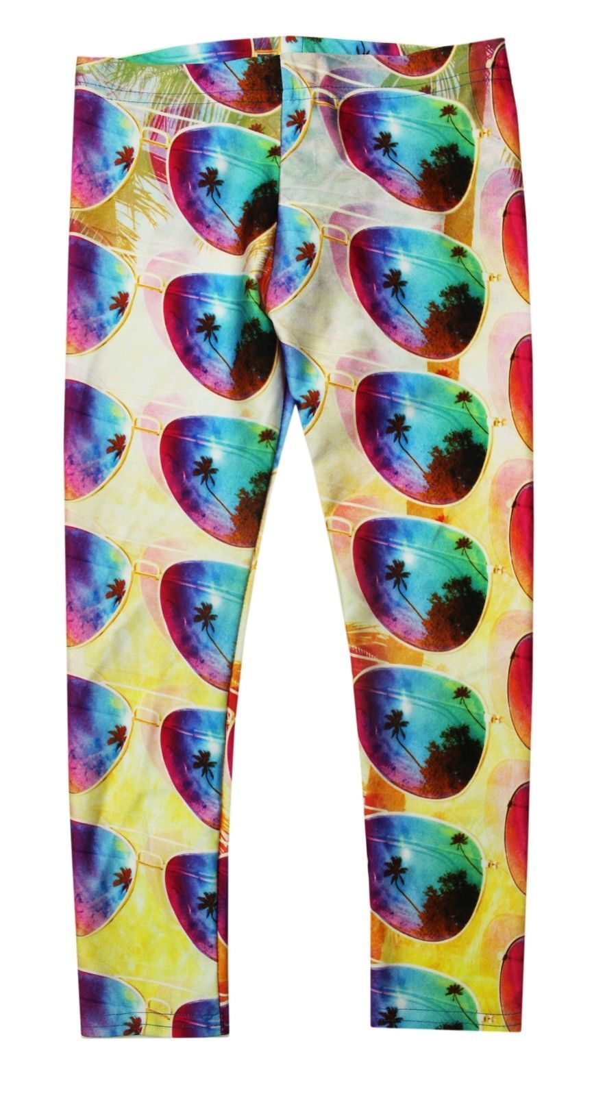 Primary image for NEW KIDS GIRLS TEREZ MADE IN NYC STRETCH SUMMER SUNNIES GLASSES LEGGINGS L