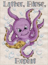 "Design Works Counted Cross Stitch Kit 5""X7""-Bath Octopus (14 Count) - $10.82"