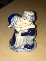 Delft Blue Hugging Dutch Boy and Girl Figurine Holland Hand Painted - $9.41