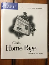 Vtg 1996 Claris Home Page Apple Mac Windows Users Guide Web Page HTML Booklet - $23.99