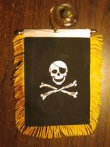 "PIRATE FLAG MINI BANNER 4""x6"" CAR WINDOW MIRROR NEW - $3.95"