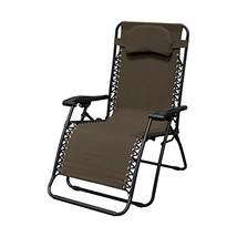 Caravan Sports Infinity Oversized Zero Gravity Chair, Brown - $62.81