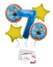 Toy Story 4 Happy Birthday Balloon Bouquet (5 Balloons), 7th Birthday   ... - $12.99