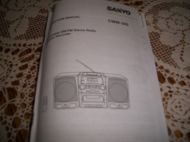 Sanyo CWM-340 Instruction Manual CD Portable AM/FM Stereo Radio Cassette... - $5.00