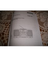 Sanyo CWM-340 Instruction Manual CD Portable AM/FM Stereo Radio Cassette... - $5.00